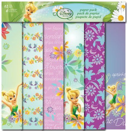 Disneys Fairies Collection Tinkerbell 12 Sheet Paper Pack by Trends International