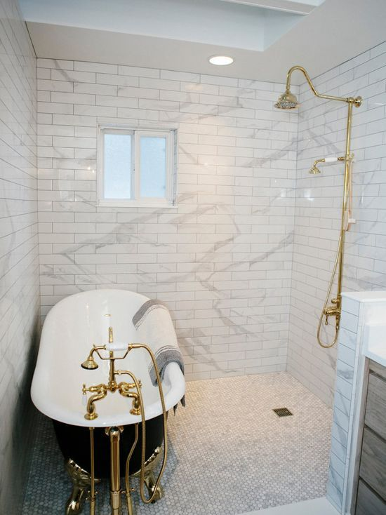 This Jaw Dropping Wet Room Features A Randolph Morris Cast Iron
