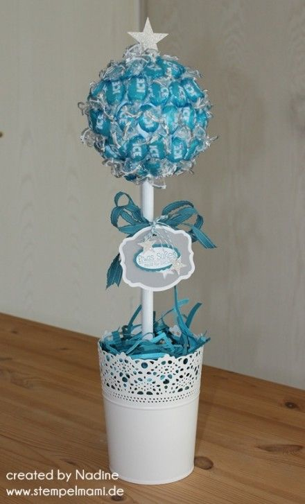 tischdekoration stampin up deko dekoration bonbon tree. Black Bedroom Furniture Sets. Home Design Ideas