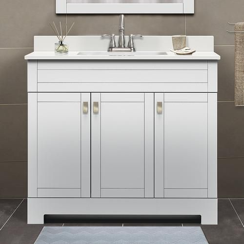Magick Woods Elements 37 267 37x19 White Vanity Top With