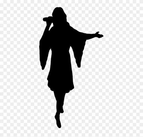 Download And Share Clipart About Cowgirl Silhouette Silhouette Of Singer Girl Singing Silhouette Png Find More High Quality Silhouette Png Clip Art Singer
