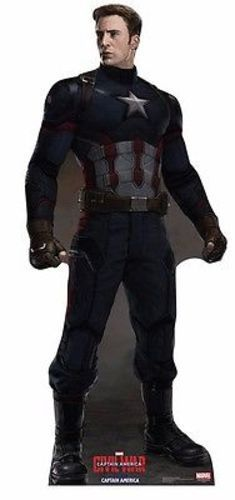 MARVEL CAPTAIN AMERICA NO MASK CACW LIFE SIZE STANDUP CARDBOARD CUTOUT 2208