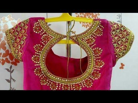 pattu sarees latest maggam work designs 2019