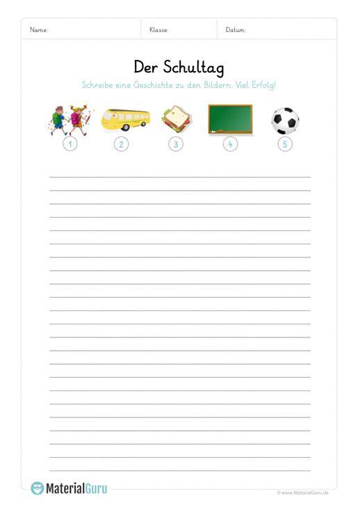 Ein Kostenloses Arbeitsblatt Zum Thema Bildergeschichten Auf Dem Die Schuler Zu 5 Vorgegebenen Bildern Bildergeschichte Geschichte Bildergeschichten Schreiben