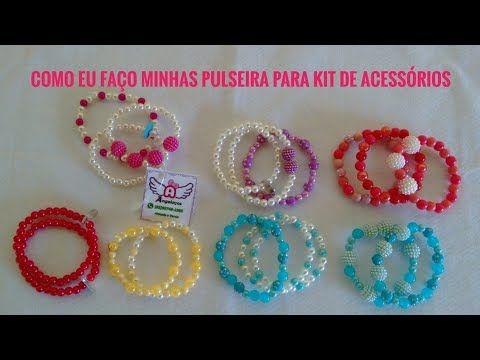 9df30b8d9f7743 KIT PULSEIRA INFANTIL - ( Trio de Pulseiras Para Montar Kits com ...