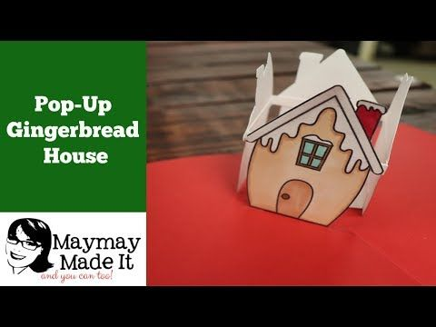 34 Gingerbread House Pop Up Card Youtube Pop Up Cards Card Tutorial Cards