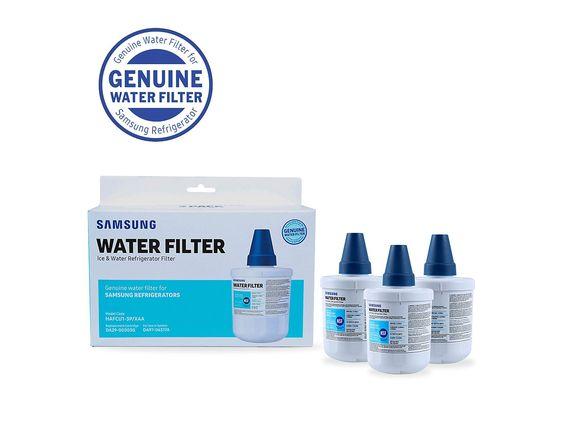 Samsung Haf Cu1 3 Pack Refrigerator Water Filter Stainless Steel