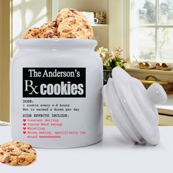 Personalized Prescription for Smiles Ceramic Cookie Jar