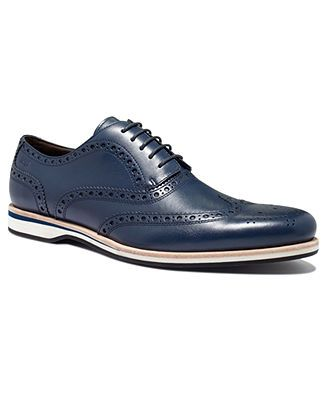 """For """"him"""" - Hugo Boss Shoes, Newero Wing-Tip Lace-Up Shoes - Shoes - Men - Macy's"""