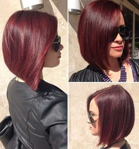 33 Red Bob Haircut Style For Valentine S Day The Color Of Love Is Red Your Passion From Ginger To Gem Ton Red Bob Haircut Bobs Haircuts Bob Hairstyles