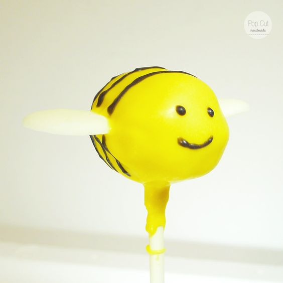Cake Pop Biene gelb