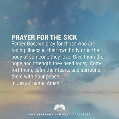 Prayer for sick Quote Pinterest It is, For her and