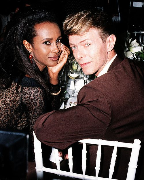The Thin White Duke & the always lovely Iman........  True style icons #iman #bowie xoSocialite