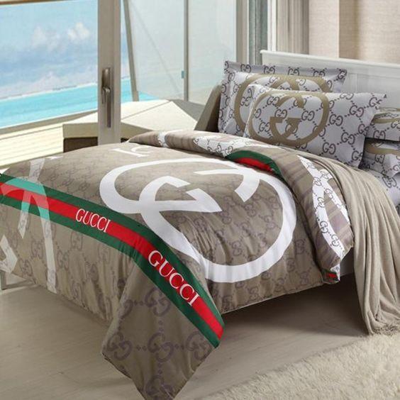 Piumone Matrimoniale Gucci.Gucci Bedding Idee Per La Stanza Da Letto Piumoni Letto E