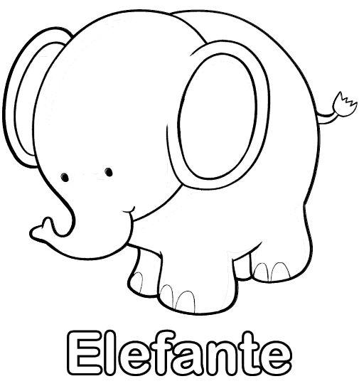 Dibujos para imprimir y colorear elefante para colorear - Pintar paredes con dibujos ...