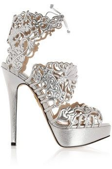 Miss M's Girls Trip to Greece. Modern Goddess: silver high heel ...