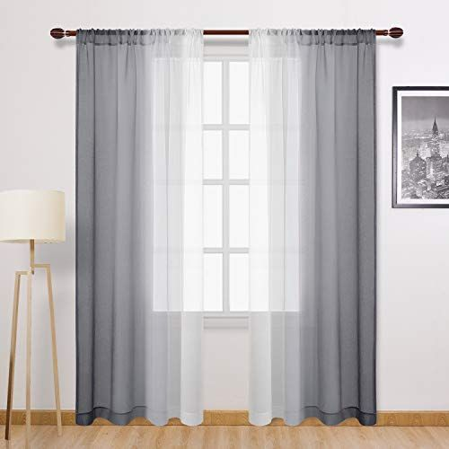 Grey Sheer Curtains For Bedroom In 2020 Gray Sheer Curtains Curtains Sheer Linen Curtains