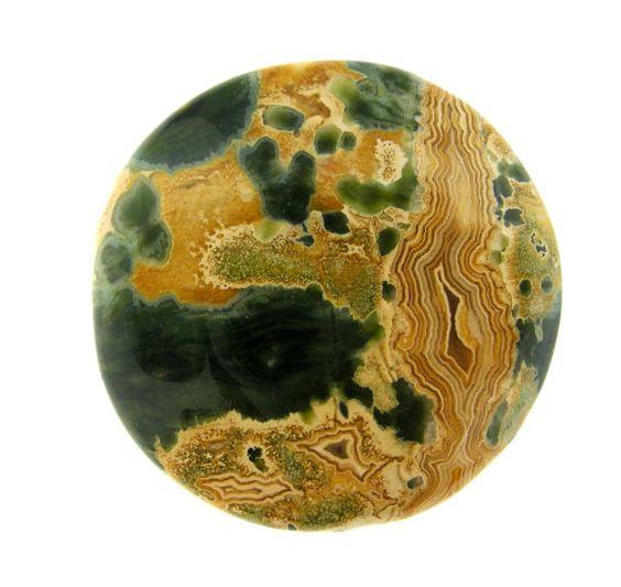 Large Madagascar Ocean Jasper Round Shape by FancyGemsandFindings, $57.00