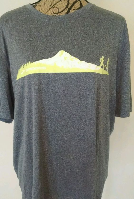 Brooks Equilibrium Running Athletic T-Shirt Women's XL Gray Very Nice! #Brooks #ShirtsTops