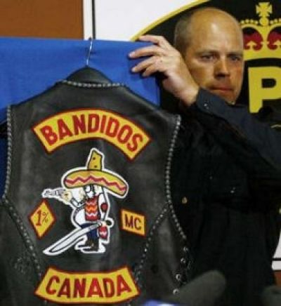 """According to this article, """"The Bandidos was founded by Marine Corps and Vietnam War veteran Don Chambers in San Leon, Texas, in 1966. The clubs official motto is We are the people our parents warned us about, with a big Mexican in sombrero brandishing a machete and pistol adorning the clubsdistinctive patch.The Bandidos currently boast of 104 chapters in the United States, along withinternational chapters"""" in several other countries."""