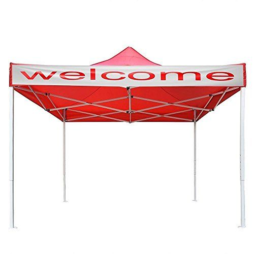 10 X 10 106 Inch Height Ez Pop Up Tent Outdoor Instant Shelter Folding Gazebo Canopy Red Steel Frame For Commercial P With Images Folding Gazebos Pop Up Tent Gazebo Canopy