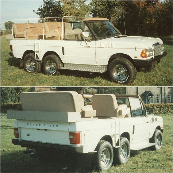 """""""Vantagefield Range Rover Hunter Yes, this is an open top Range Rover with six wheels and the front of a Mercedes-Benz W123. The good new is, Vantagefield…"""""""
