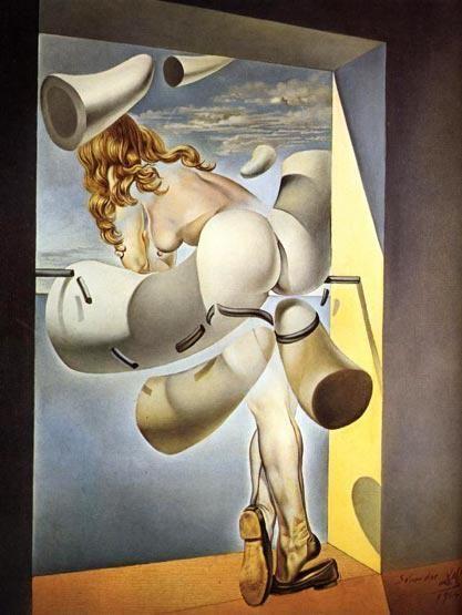 """""""Joven virgen autosodomizada por su propia castidad"""", Dalí."""