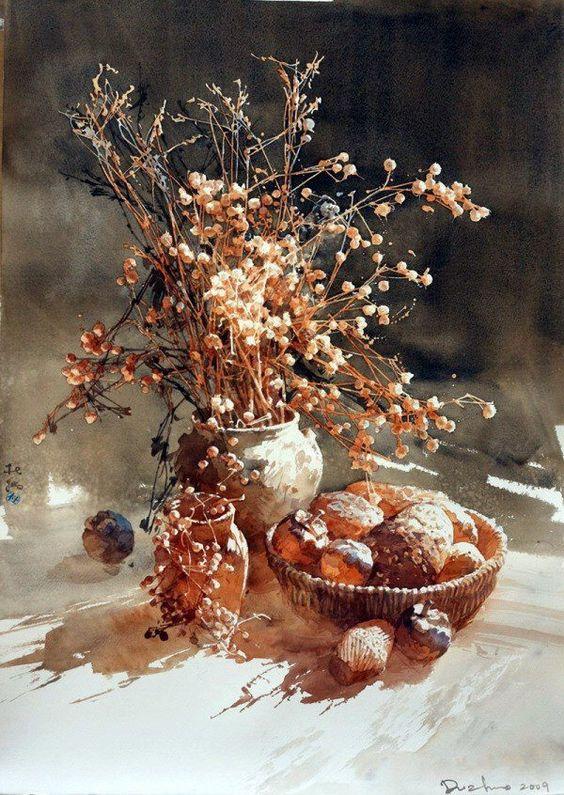 杜 拙 / Du Zhuo (b. 1969, China) watercolour.: