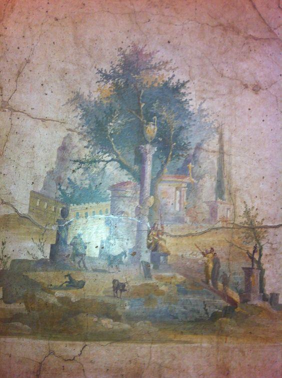 museo arqueológico de Napoles. pinturas de Pompeya