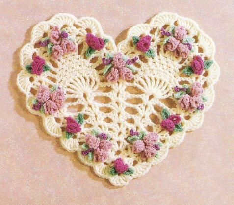 #crochet 3hearts #vintage ....Quite a few hearts with charts on this site.