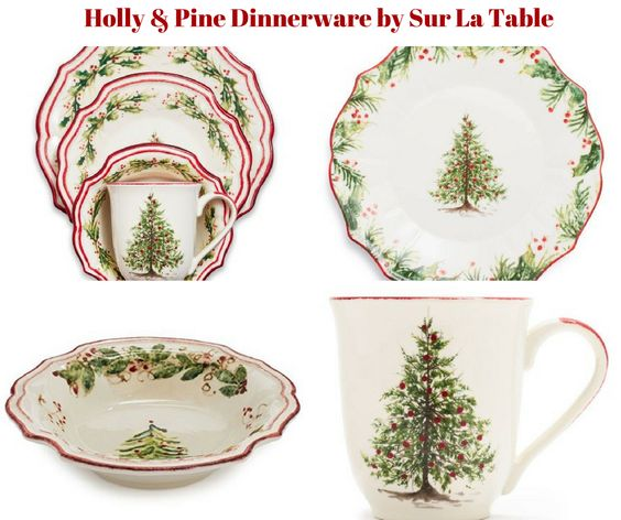 Holly and Pine Dinnerware by Sur La Table