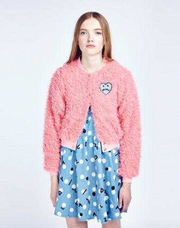 Lazy Oaf Fluffy Pink Bomber Jacket | ss15 | Pinterest | Pink