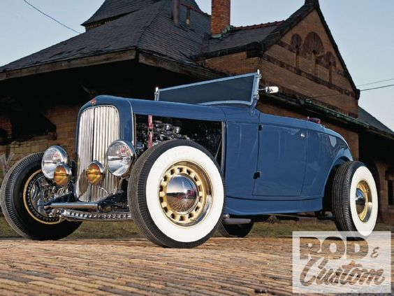Blue 32 Ford Roadster