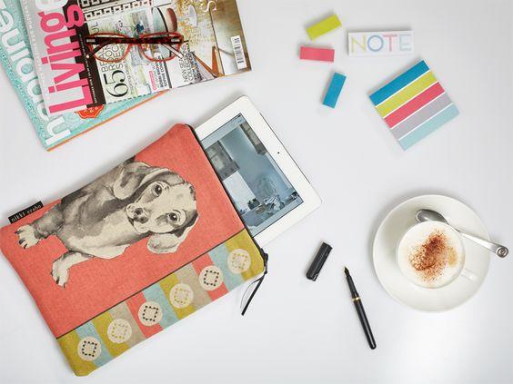 Dachshund padded ipad cover designed by nikki szabo designs £27