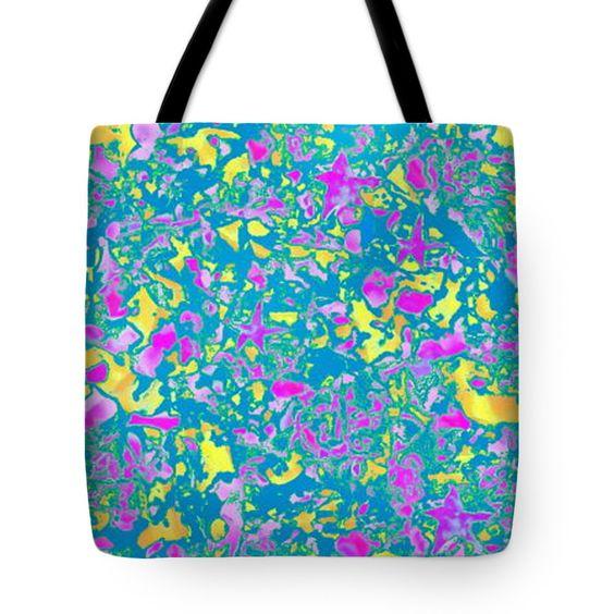 "Starfish tidepool Tote Bag 18"" x 18"""