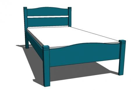 Child bed twin bed frames and bed plans on pinterest for Cute twin bed frames