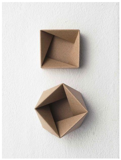 folded squares.