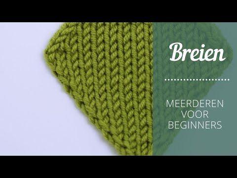 Breien Meerderen voor beginners Breistudio Kim