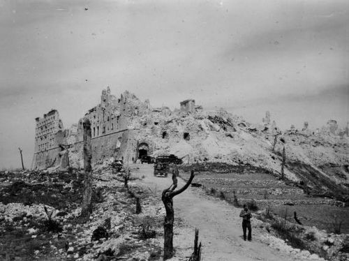 The aftermath of the Battle of Monte Cassino, Italy 1944