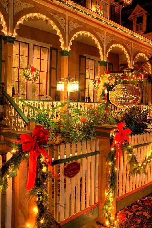 Christmas comes to The Mason Cottage ~ Cape May ~ New Jersey Ideas