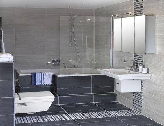 kleine badkamer bad en douche - Google zoeken | Bathroom ...