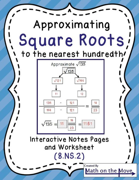 math worksheet : estimating square roots  interactive notes and worksheet 8 ns 2  : Square Root Math Worksheets