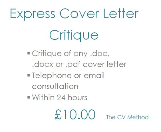 Express Cover Letter Critique | The Cv Method Services | Pinterest