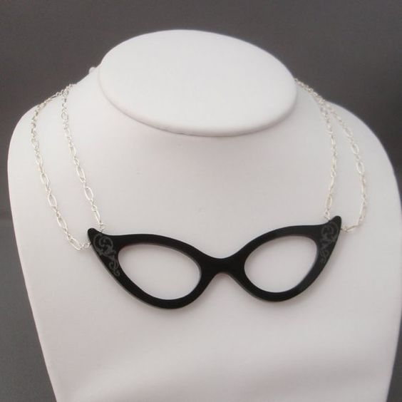Eyeglasses Necklace - couture way to wear your readers