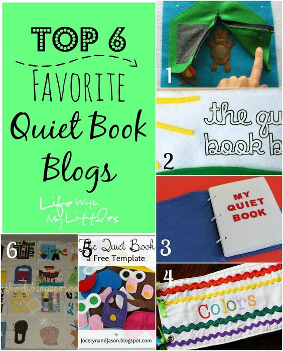 Top 6 Favorite Quiet Book Blogs: 6 great sites to help you with your quiet book!