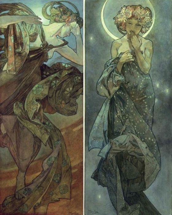 Alphonse Mucha Graphic Design Print On Canvas Print On High