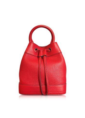 Tory Burch Robinson Mini Pebbled Leather Bucket Bag