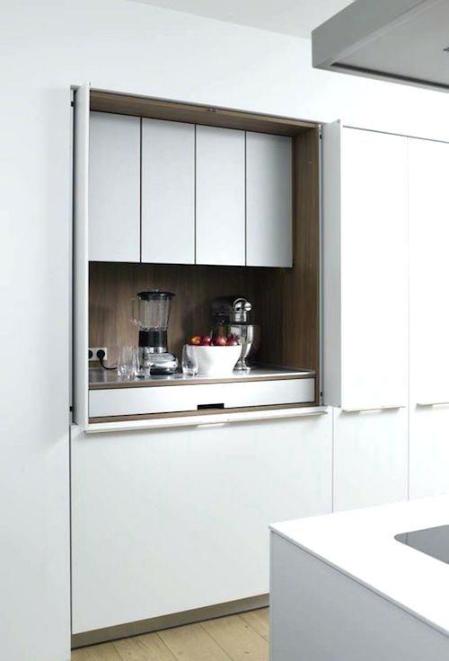 Retractable Cupboard Doors Best Sliding Cabinet Ideas On Barn Door For Hafele Hardware Id Modern Kitchen Design Hidden Kitchen Minimalist Kitchen
