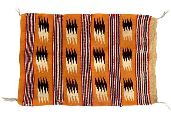 1960's Orange Navajo Rug Wall Hanging on @One Kings Lane Vintage & Market Finds by Ruby + George