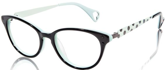 Eyeglass Frames For Long Thin Face : Betsey Johnson Ombre Minnie BJ 0148 Eyeglasses - a Full ...